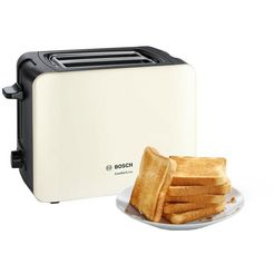 bosch toaster »tat6a117«, voor 2 plakken brood, 1090 w multicolor