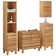 home affaire badkamerserie »josie« (set, 4-tlg) beige