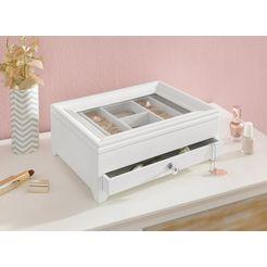 home affaire bijoubox met lade en vakken wit