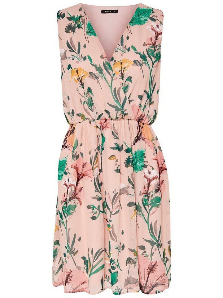 ONLY Bedrukte Mouwloze jurk roze