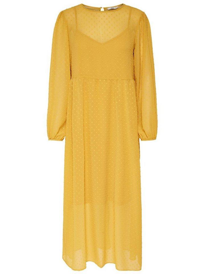 NU 21% KORTING: ONLY Lange mouwen Maxi jurk geel