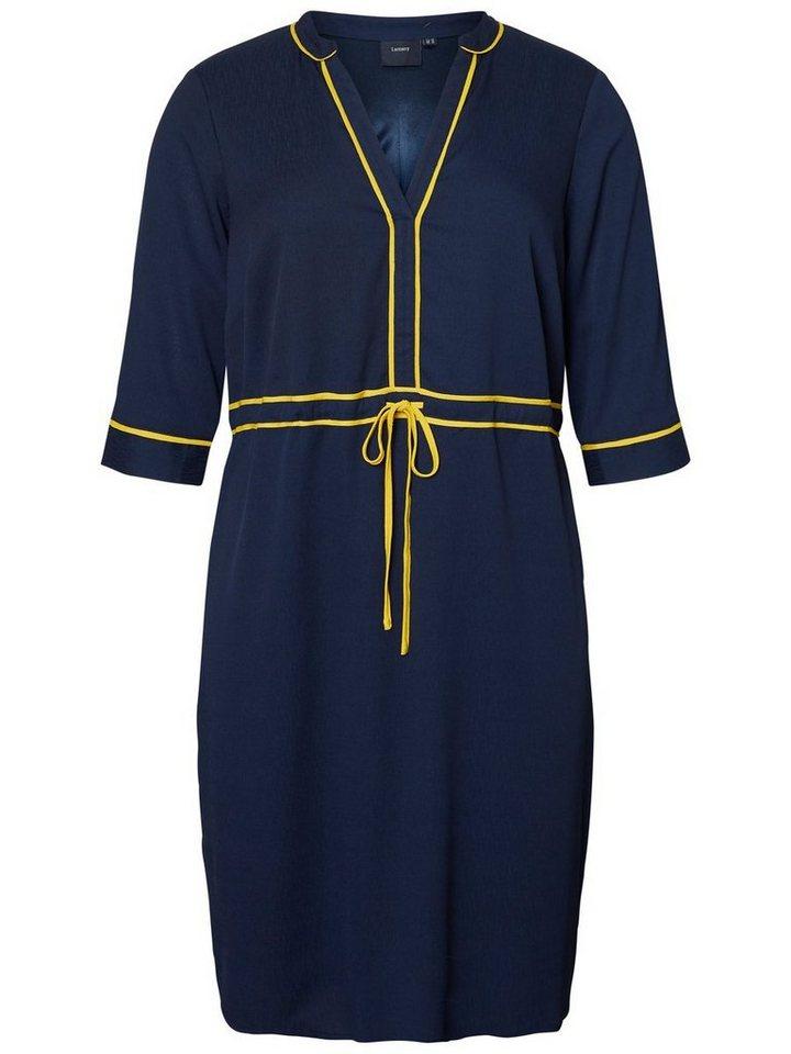 Junarose Contrasterende jurk blauw
