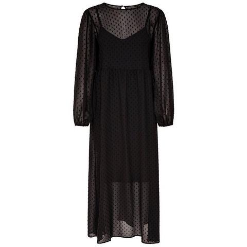 ONLY Lange mouwen Maxi jurk zwart