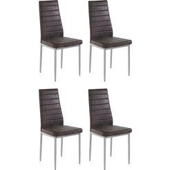 stoel »kate«, zithoogte 48 cm, set van 2 en 4 grijs