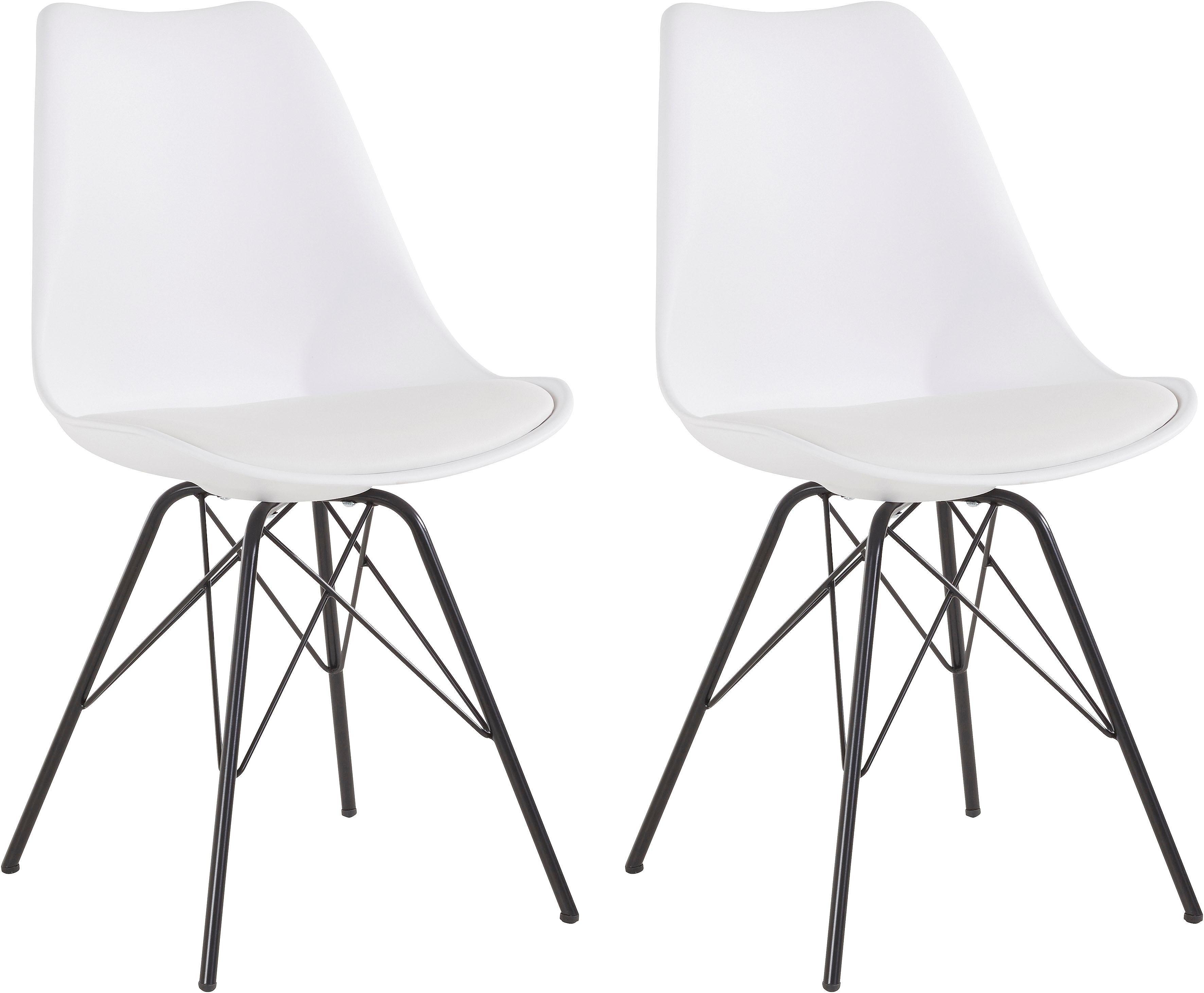 Homexperts Eetkamerstoel Ursel 01 Kuipzitting met zitkussen in imitatieleer (set, 2 stuks) nu online bestellen