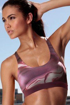 active by lascana sportbustier voor takken van sport met lichte belasting paars