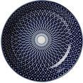 ritzenhoff  breker diep bord royal reiko keramiek (set, 4 stuks) blauw