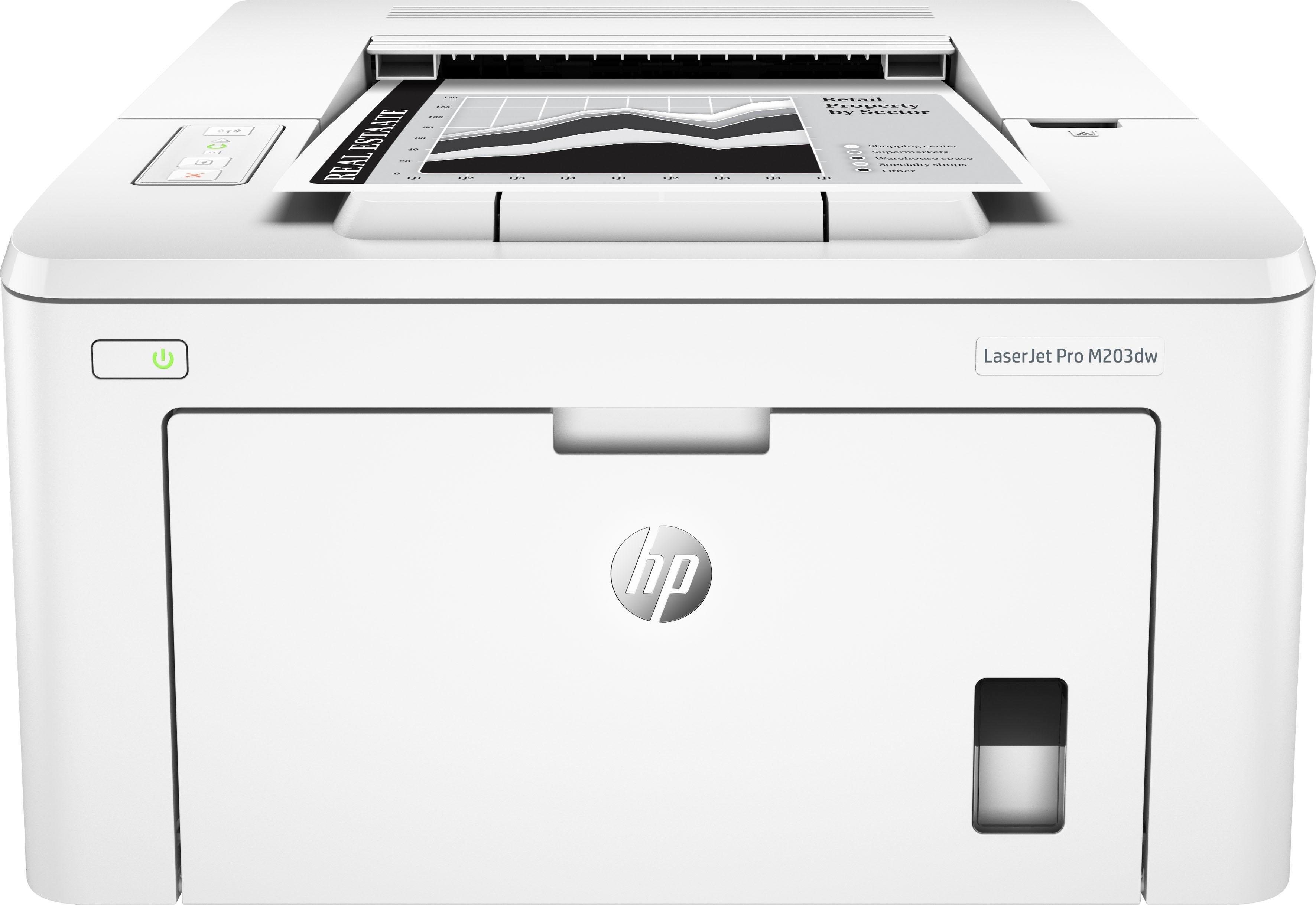 HP LaserJet Pro M203dw printer - verschillende betaalmethodes