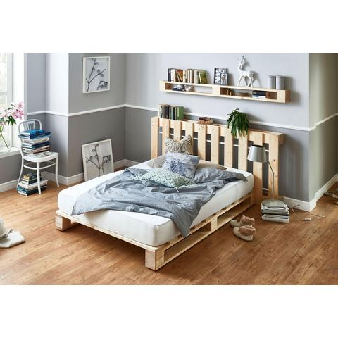 Atlantic Home Collection palletbed van massief vuren, naar keuze met matras