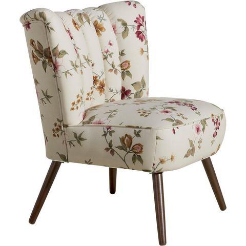 Max Winzer® fauteuil Aspen in retrostijl, met bloemmotief