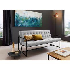places of style 2,5-zitsbank in loungestijl grijs