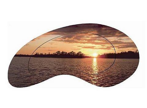 Artprint 'Zonsondergang aan zee'