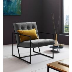 places of style fauteuil »lounge-chair« grijs