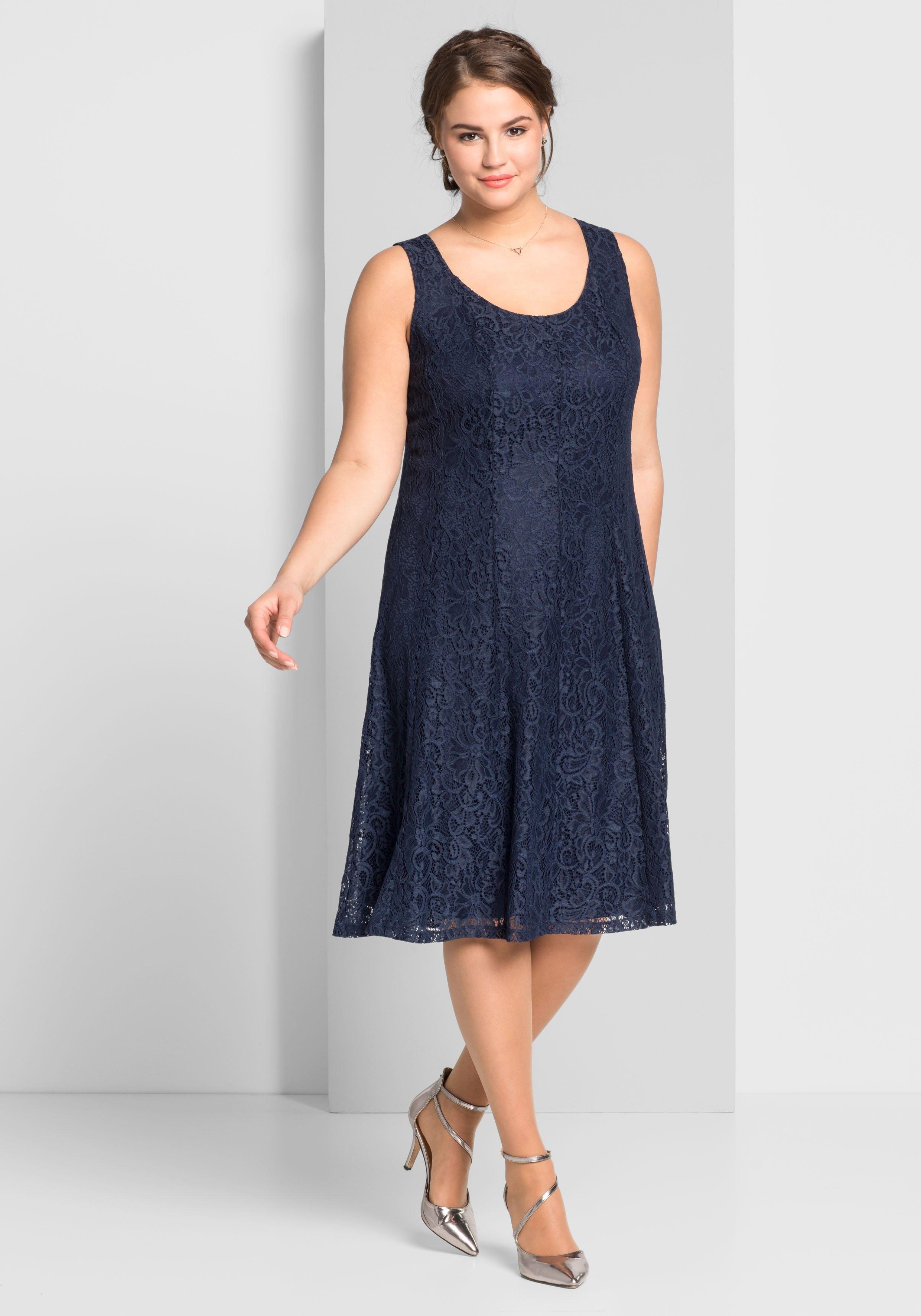 Sheego Style kanten jurk nu online kopen bij OTTO