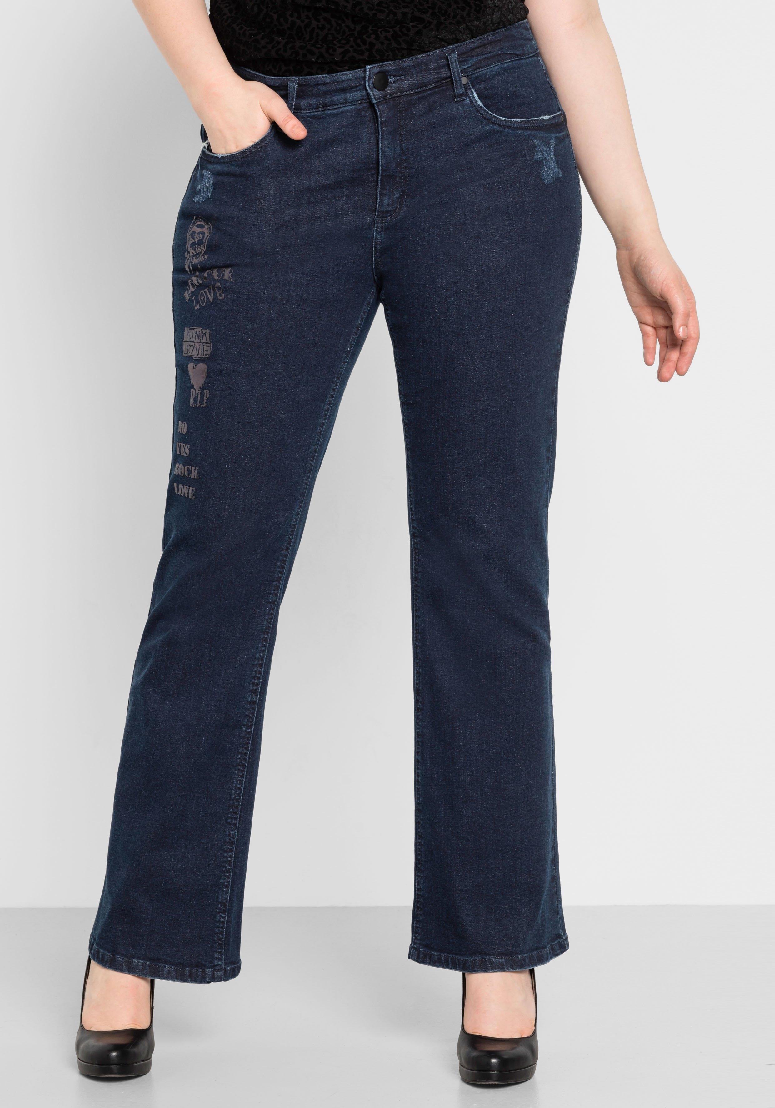 Sheego Denim bootcut jeans nu online bestellen