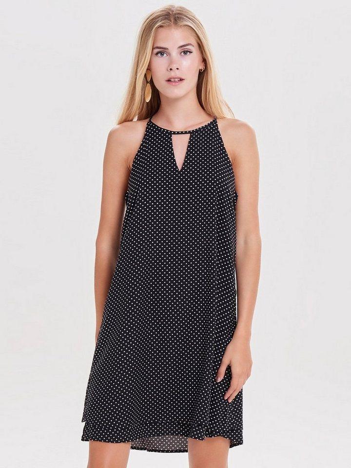 ONLY Bedrukte Mouwloze jurk zwart