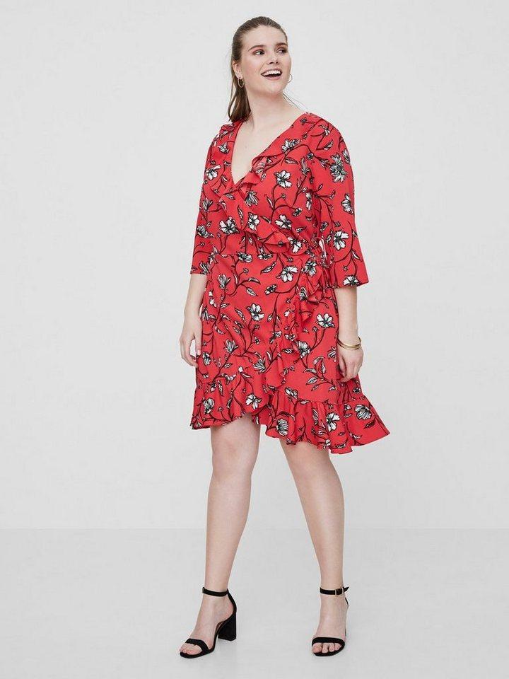 Junarose Overslag jurk rood
