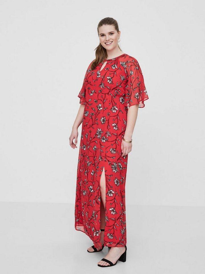 Junarose Bloemenprint maxi jurk rood