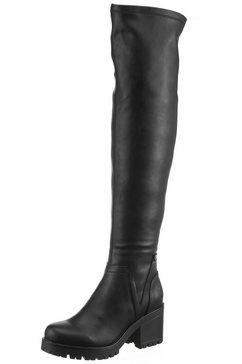 dockers by gerli overknee-laarzen zwart