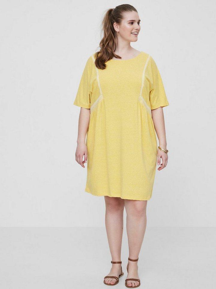 Junarose jersey jurk geel