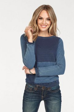 arizona sweatshirt »in denim-look« blauw