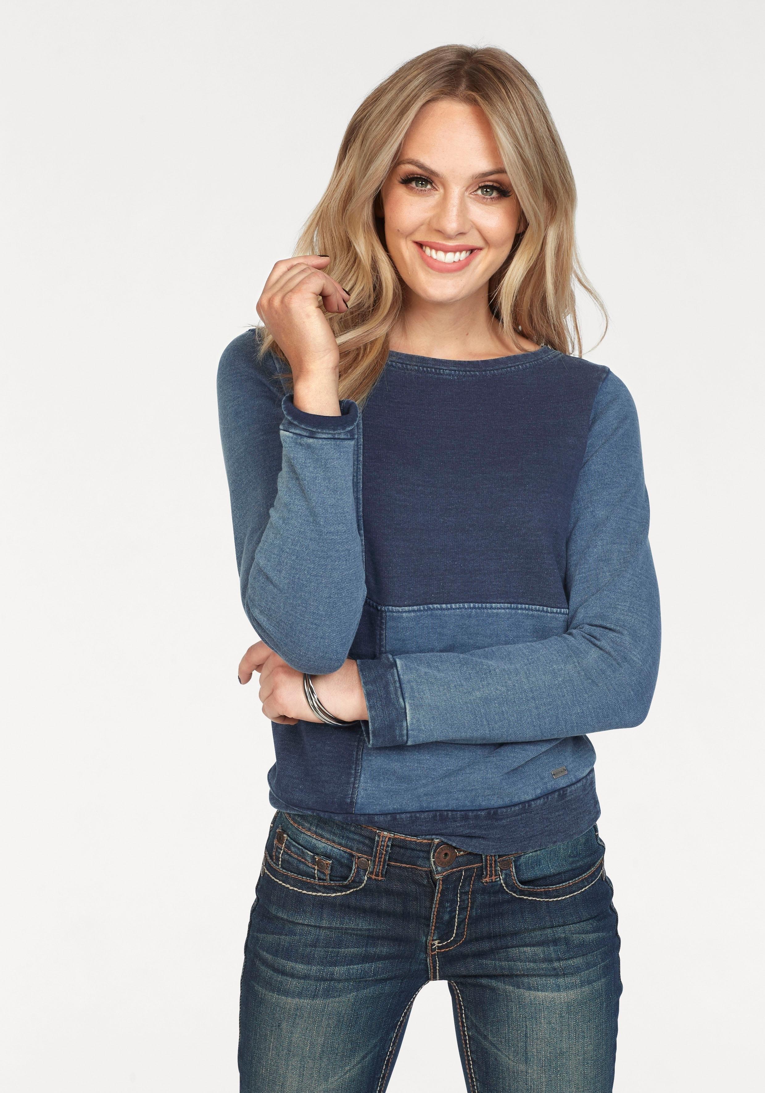 Op zoek naar een ARIZONA sweatshirt »in denim-look«? Koop online bij OTTO