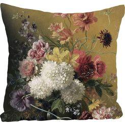 queence kussenovertrek bos bloemen (1 stuk) multicolor