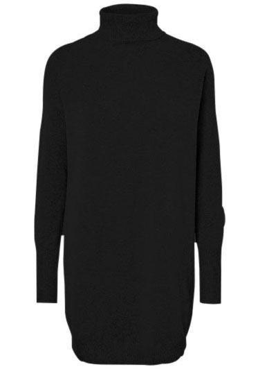 Vero Moda tricotjurk BRILLIANT zwart