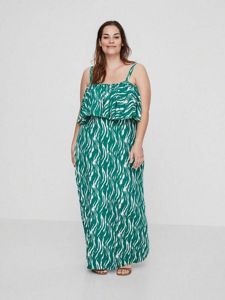 Junarose Gedessineerde Maxi jurk groen