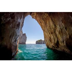 bmd fotobehang »blue grotto in capri island« multicolor