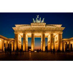 papermoon fotobehang »brandenburg gate« multicolor