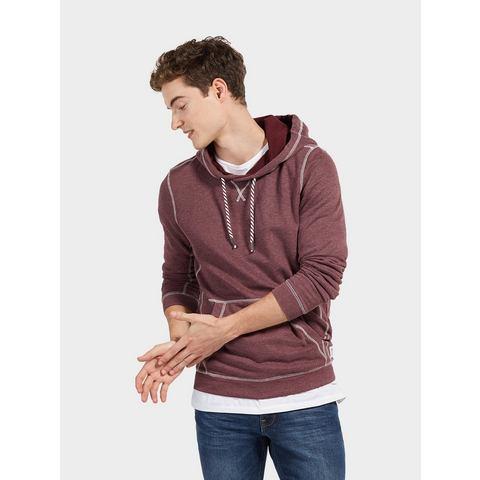 Tom Tailor Denim NU 15% KORTING: TOM TAILOR DENIM Sweatshirt Hoodie met contrastkleurige naden