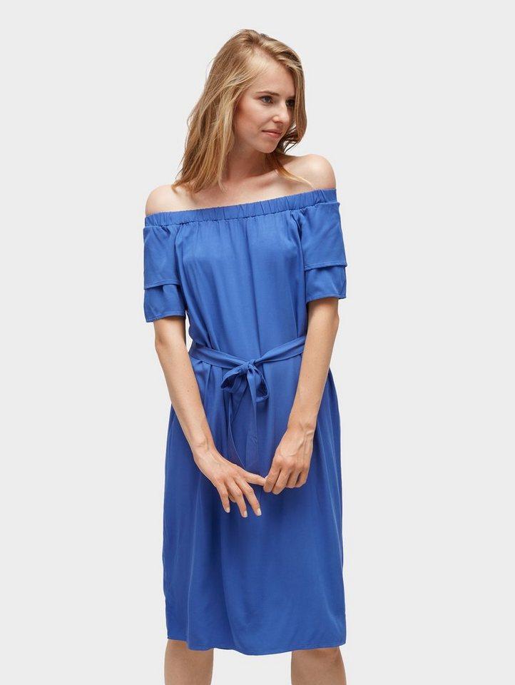 Tom Tailor jerseyjurk Schlichtes Off-Shoulder-Kleid blauw