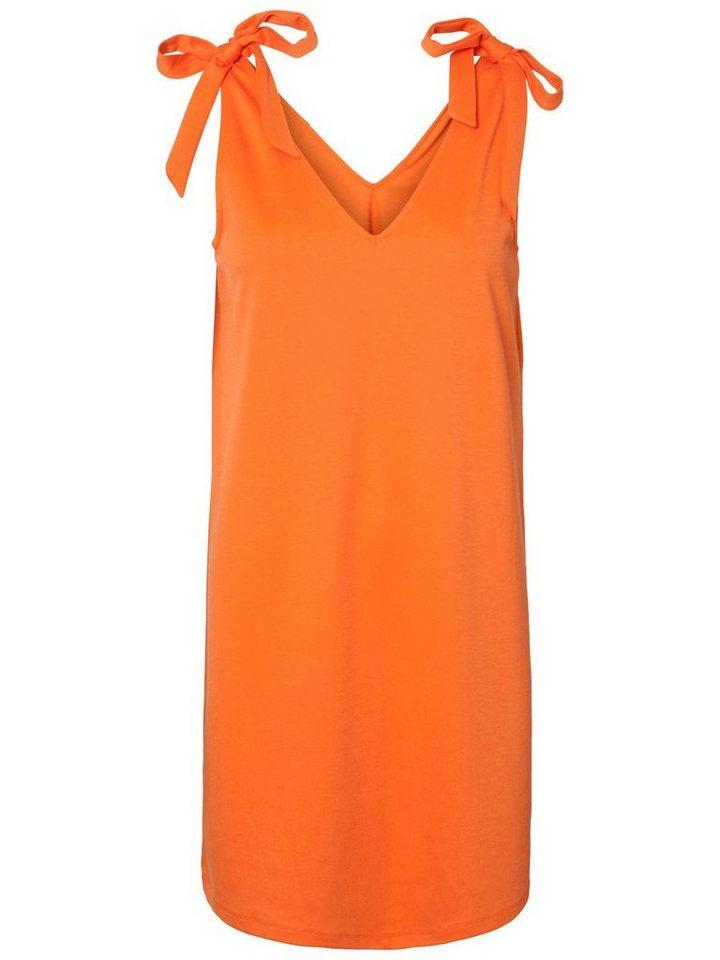 Pieces Effen mouwloze jurk oranje