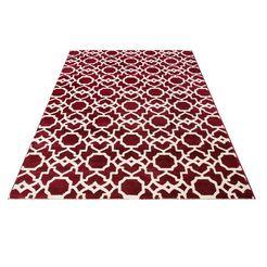 vloerkleed »amsterdam«, guido maria kretschmer home  living, rechthoekig, 13 mm hoog, mach. geweven rood