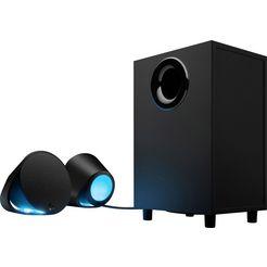 logitech games »g560 lightsync« 2.1-luidsprekersysteem (bluetooth, 240 w) zwart