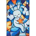 luxor living vloerkleed voor de kinderkamer bluedream bijzonder zacht door microvezel, kinderkamer multicolor