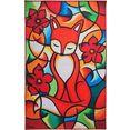 vloerkleed, »redfox«, luxor living, rechthoekig, hoogte 10 mm, machinaal geweven multicolor