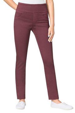 casual looks broek met hoge rondom elastische band rood
