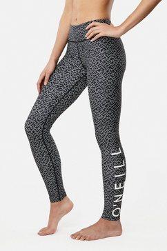 o'neill leggings »sports logo« zwart