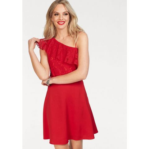 ONLY one-shoulderjurk DORY rood