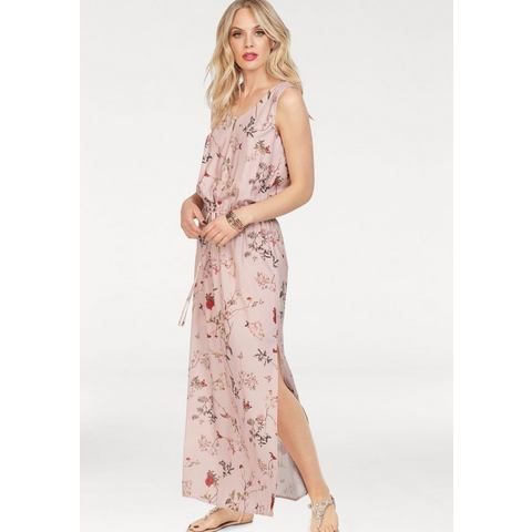 ONLY maxi-jurk BUTTERFLY roze