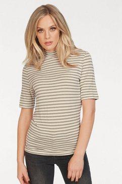selected femme shirt met staand halsboordje »sophia« beige