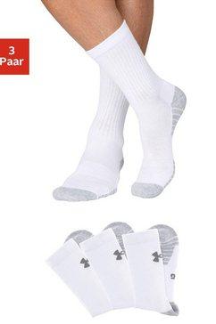 under armour sokken (3 paar) met anatomische verdikkingen wit