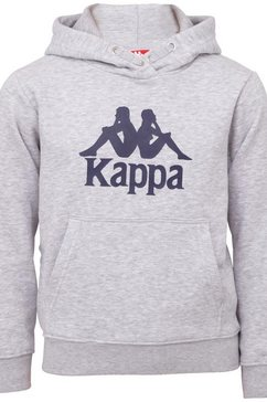 kappa hoodie authentic taino kids met opvallende logoprint grijs