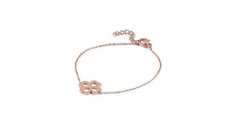 qudo edelstalen armband »Venezia, Kleeblatt, 108746«