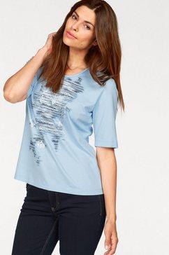 rabe shirt met ronde hals blauw