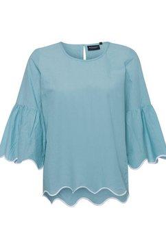 broadway nyc fashion blouse zonder sluiting »dayna« blauw