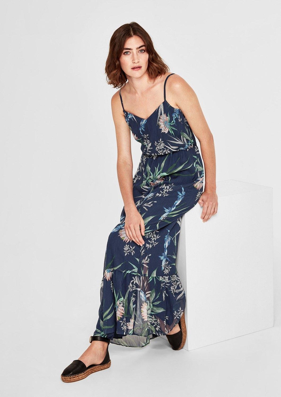 s.Oliver RED LABEL Lange chiffon jurk met print voordelig en veilig online kopen