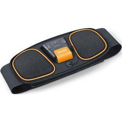 beurer ems-buikspiertrainer em 32 buikspiertrainer watercontact-elektroden (geen contactgel of reserve-elektroden noodzakelijk) (2-delig) zwart